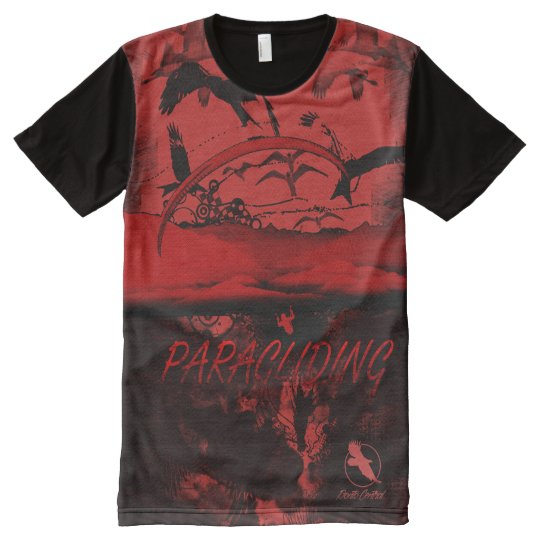 PARAGLIDING PG-37 Ponto Central All-Over-Print T-Shirt