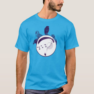 PARAGLIDING PG-CIRCLE 001 Ponto Central T-Shirt