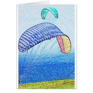 Paragliding Soaring Card