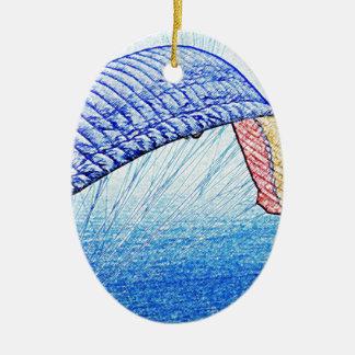 Paragliding Soaring Ceramic Ornament