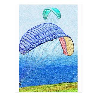 Paragliding Soaring Postcard