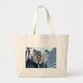 Paragraphs are selected by businessman large tote bag