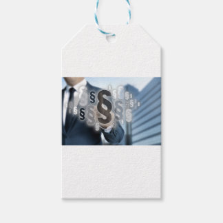 Paragraphs are selected by businessman pack of gift tags