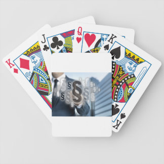 Paragraphs are selected by businessman poker deck