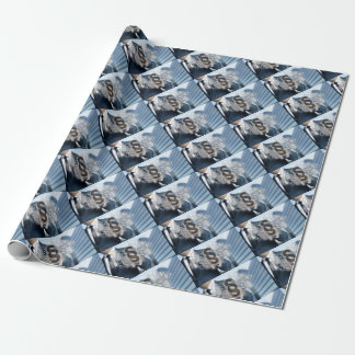 Paragraphs are selected by businessman wrapping paper