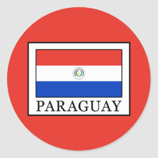 Paraguay Classic Round Sticker