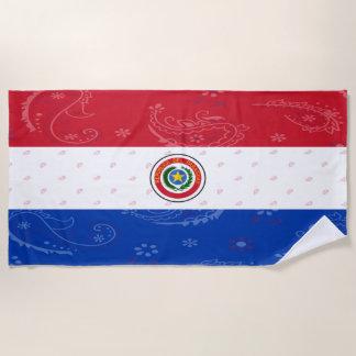 Paraguay Flag Beach Towel