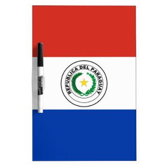 Paraguay Flag Dry Erase Board