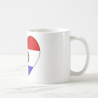 Paraguay Flag Heart Coffee Mug