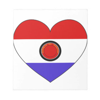 Paraguay Flag Heart Notepad