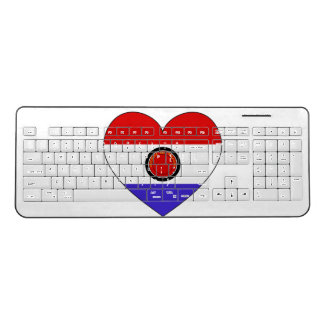 Paraguay Flag Heart Wireless Keyboard