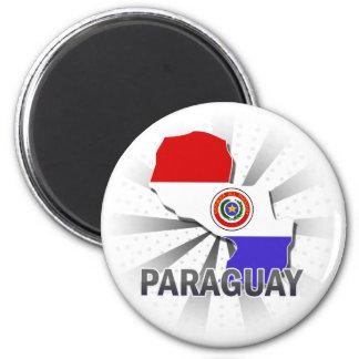 Paraguay Flag Map 2.0 Magnet