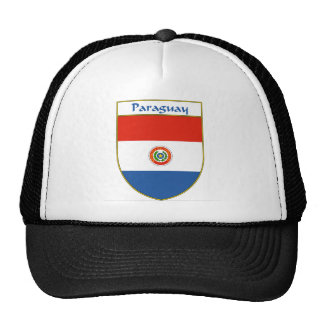 Paraguay Flag Shield Hats
