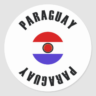Paraguay Flag Simple Classic Round Sticker