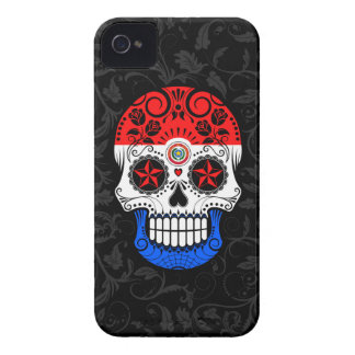 Paraguay Flag Sugar Skull with Roses Case-Mate iPhone 4 Case