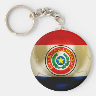 Paraguay Football Keychain