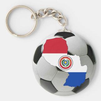 Paraguay futbol keychain