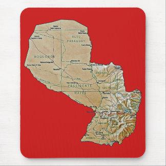 Paraguay Map Mousepad