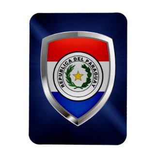 Paraguay Metallic Emblem Magnet