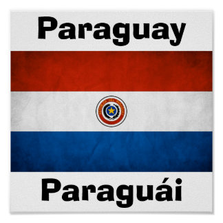 Paraguay National Flag Poster
