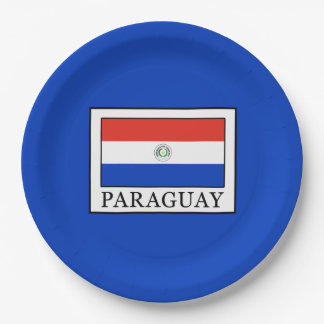 Paraguay Paper Plate