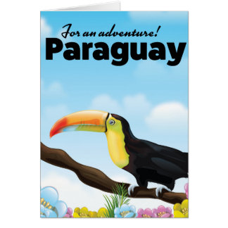 Paraguay Toucan travel poster Card