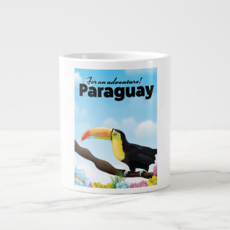 Paraguay Toucan travel poster Large Coffee Mug
