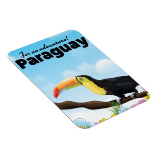 Paraguay Toucan travel poster Magnet