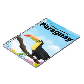 Paraguay Toucan travel poster Notebook