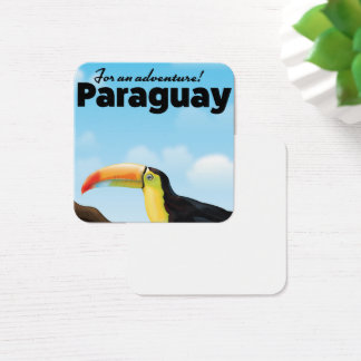 Paraguay Toucan travel poster Square Business Card