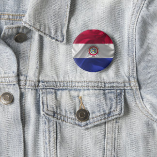 Paraguayan flag 2 inch round button