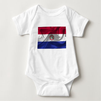 Paraguayan flag baby bodysuit