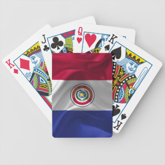 Paraguayan flag bicycle playing cards