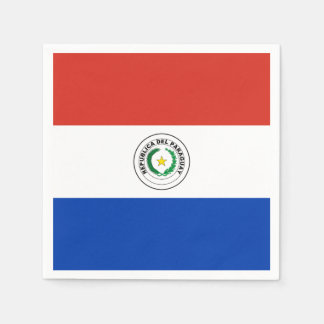 Paraguayan flag disposable napkins