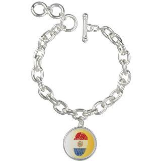 Paraguayan touch fingerprint flag charm bracelet