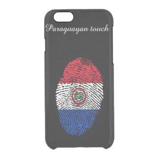 Paraguayan touch fingerprint flag clear iPhone 6/6S case