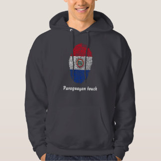Paraguayan touch fingerprint flag hoodie