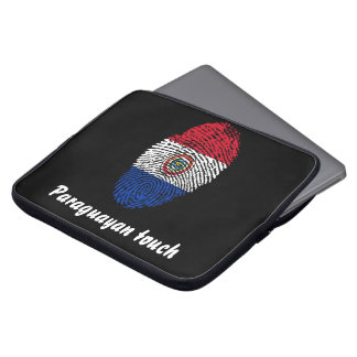Paraguayan touch fingerprint flag laptop sleeve