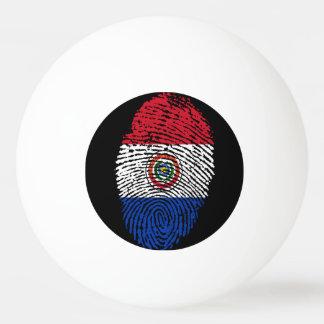 Paraguayan touch fingerprint flag ping pong ball