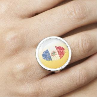 Paraguayan touch fingerprint flag ring