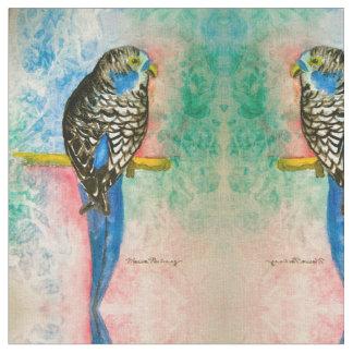 Parakeet Abstract Fabric