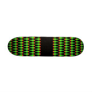 Parakeet Bird Pattern on Black. Skateboard