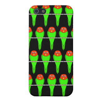 Parakeet Bird Pern on Black. Cover For iPhone 5/5S