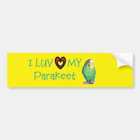 Parakeet Bumper Sticker