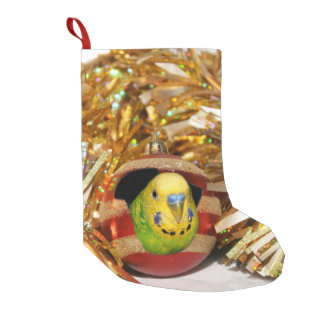 Parakeet Christmas Small Christmas Stocking