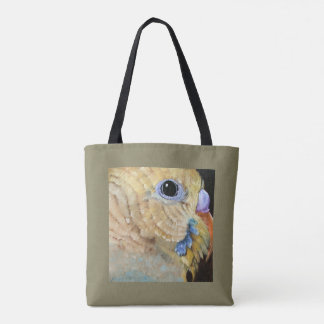 Parakeet Close Up Art All Over Tote by Mary Hughes