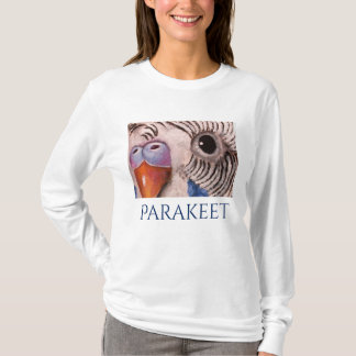 Parakeet Face Art T-shirt by Mary Hughes
