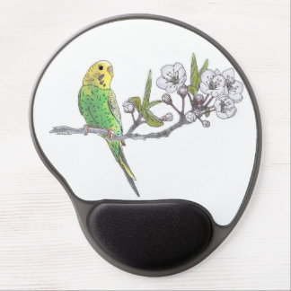 Parakeet on Branch Gel Mouse Pad