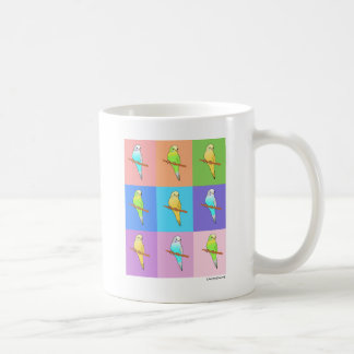 Parakeet Rainbow Rectangles Coffee Mug