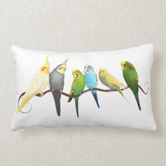 Parakeets and Cockatiels Lumbar Pillow